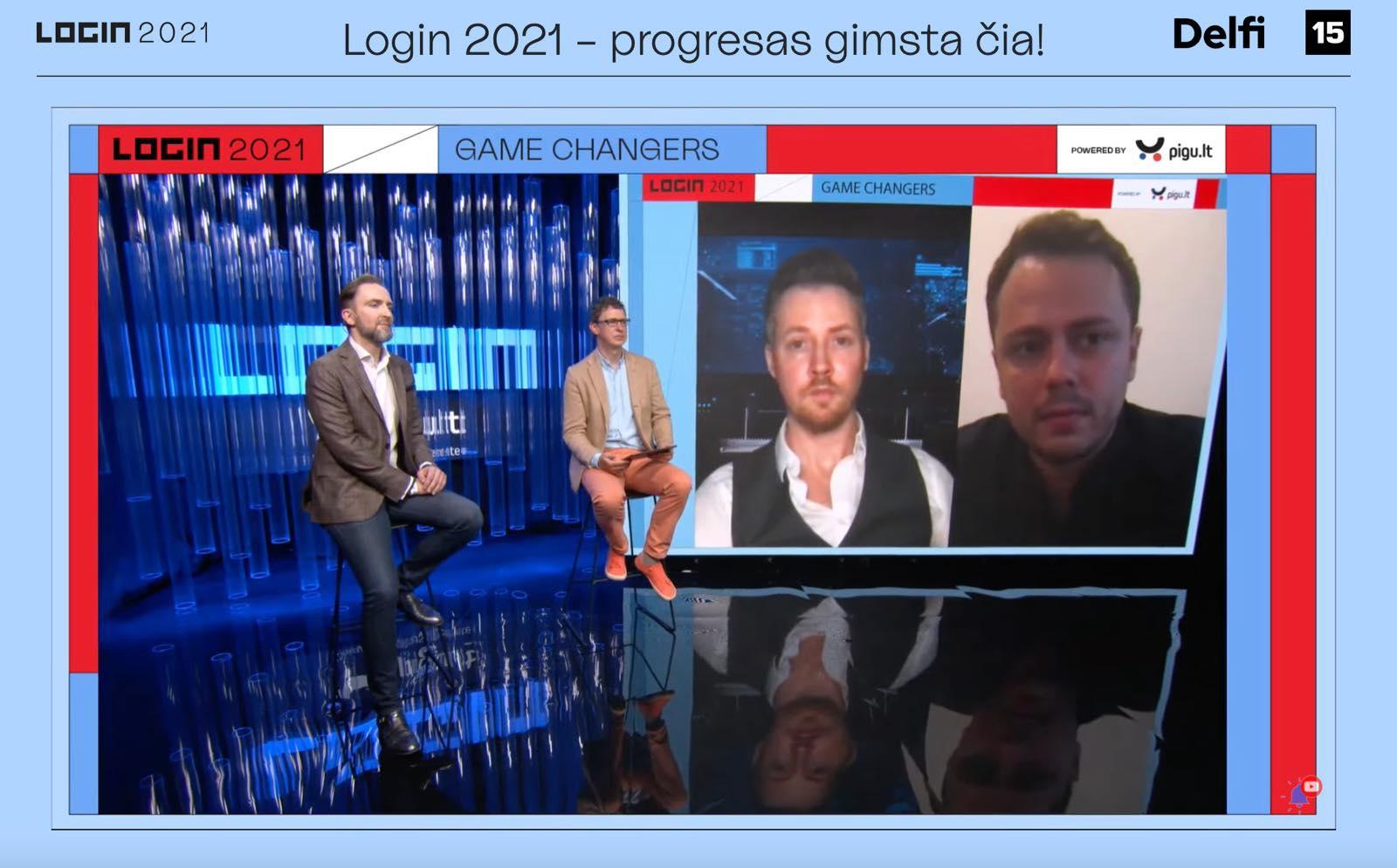 Abromavičius ir Kisieliauskas eSportas Login konferencijoje